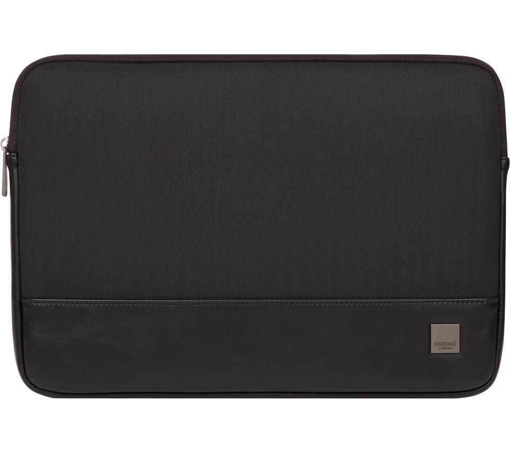 "KNOMO Herringbone 14"" Laptop Sleeve - Black, Black"