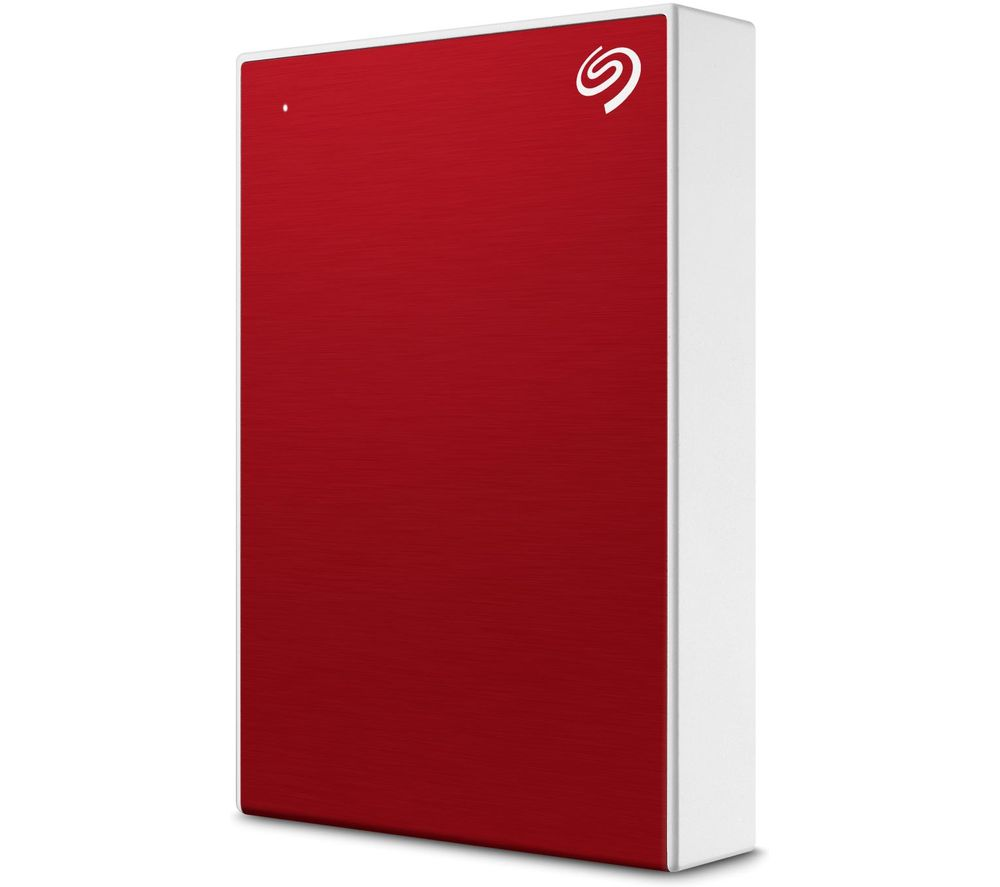 SEAGATE One Touch Portable Hard Drive - 1 TB, Red, Red