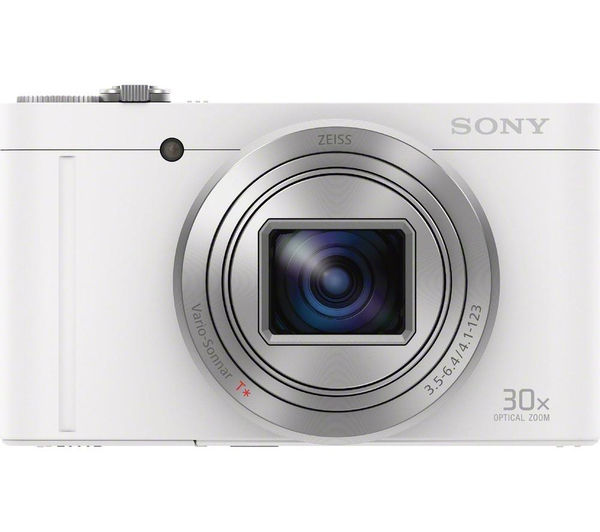 SONY Cyber-shot Cyber-shot DSC-WX500W Superzoom Compact Camera - White, White