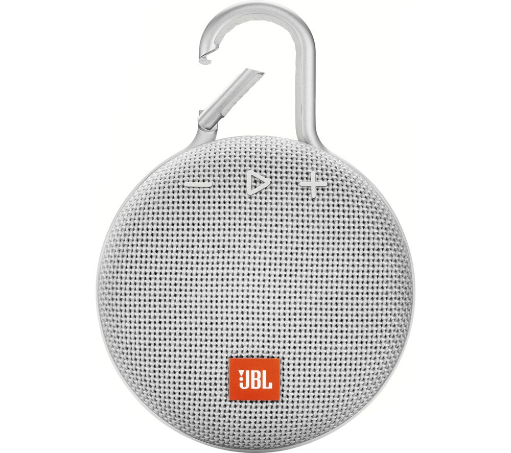 JBL Clip 3 JBLCLIP3WHT Portable Bluetooth Speaker - White, White