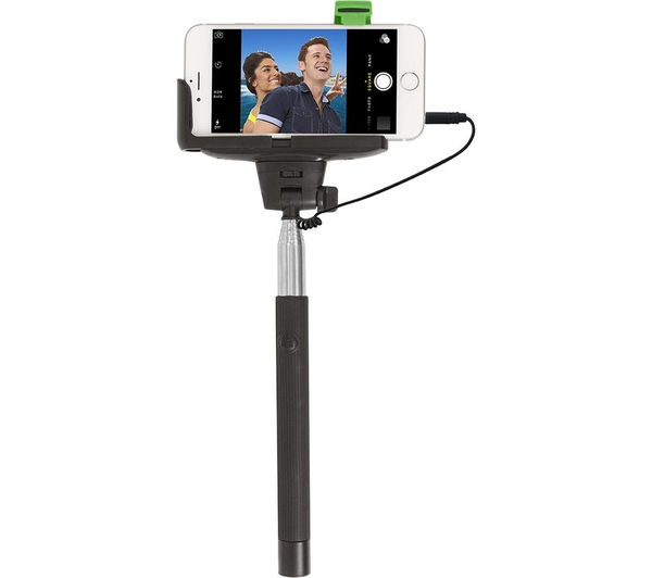 RETRAK EUSELFIEW Selfie Stick - Black & Silver, Black