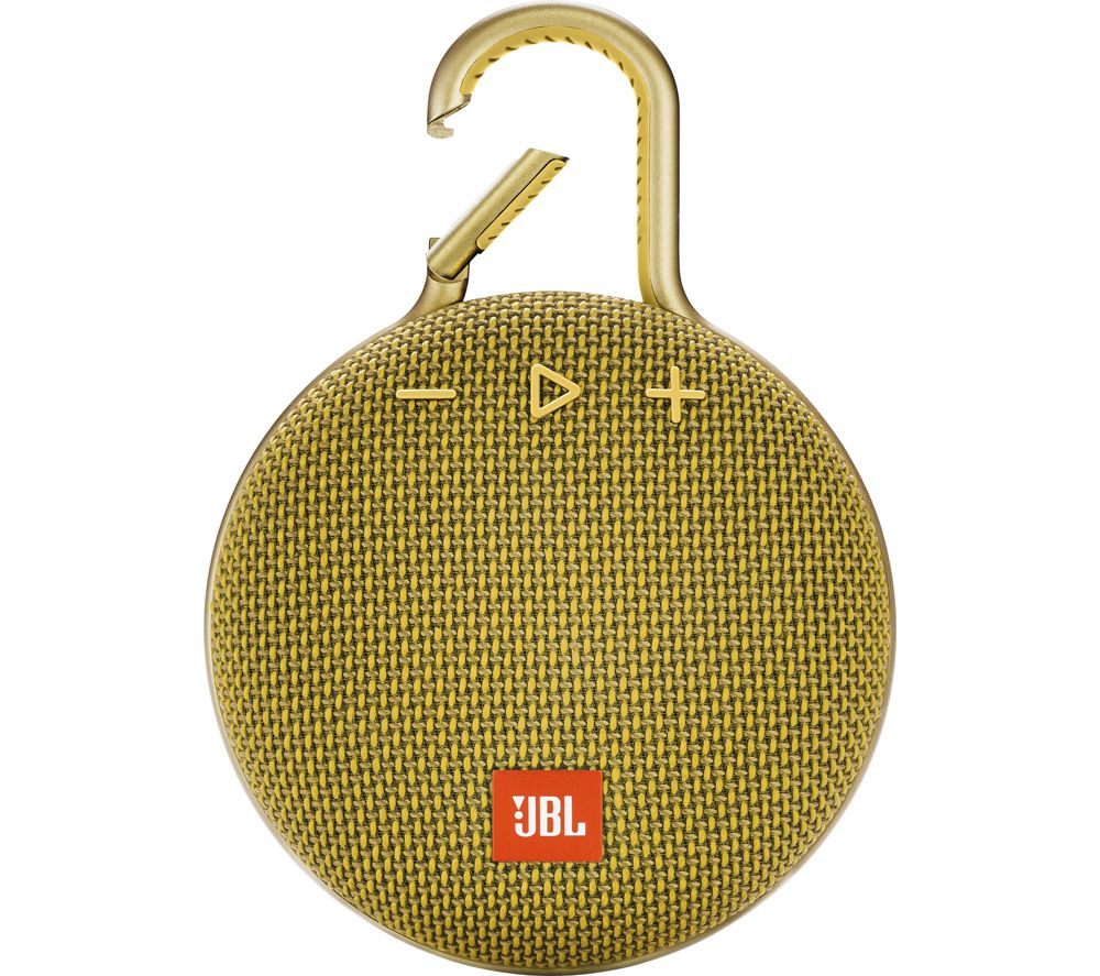JBL Clip 3 JBLCLIP3YEL Portable Bluetooth Speaker - Yellow, Yellow
