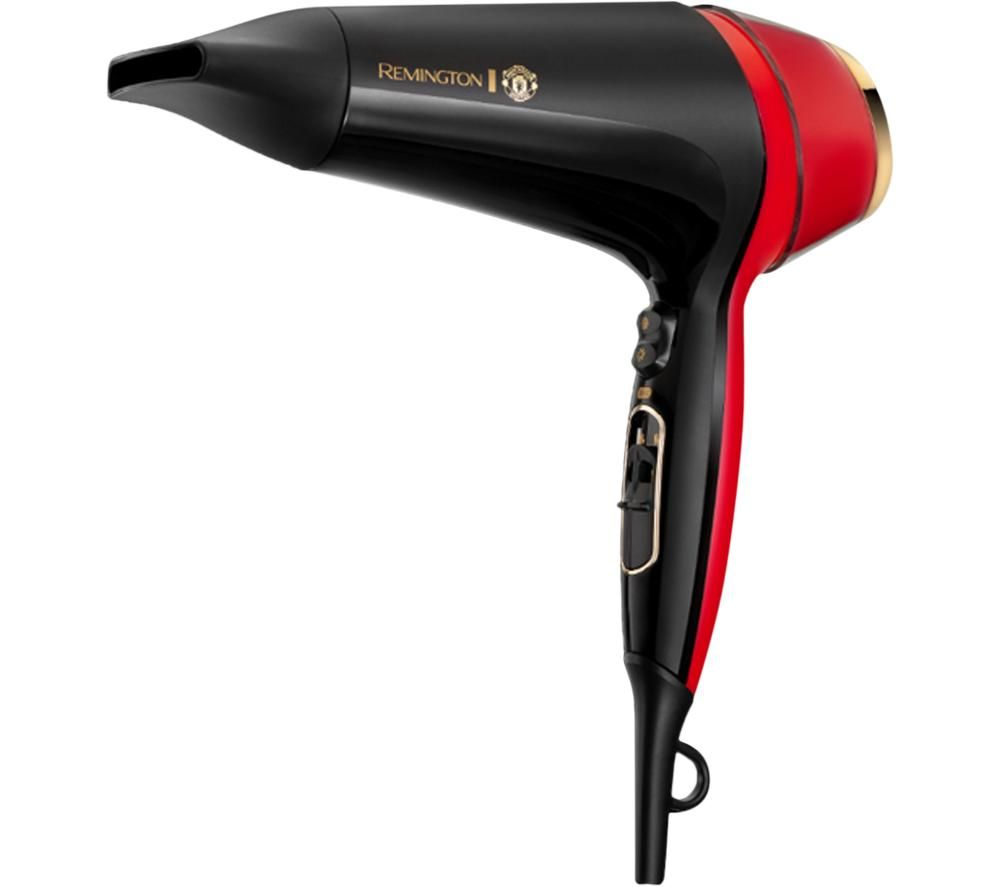 REMINGTON Thermacare Pro 2400 Manchester United Edition Hair Dryer - Black & Red, Black