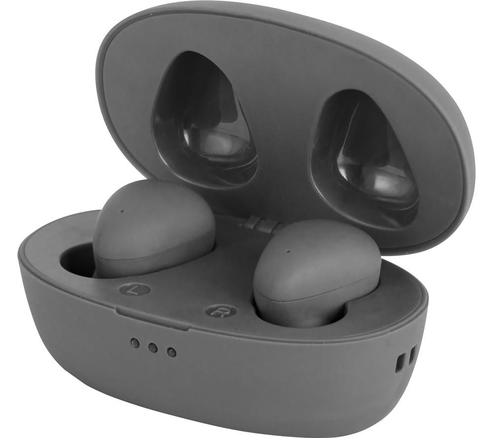 AKAI A61047G Wireless Bluetooth Earphones - Grey, Grey