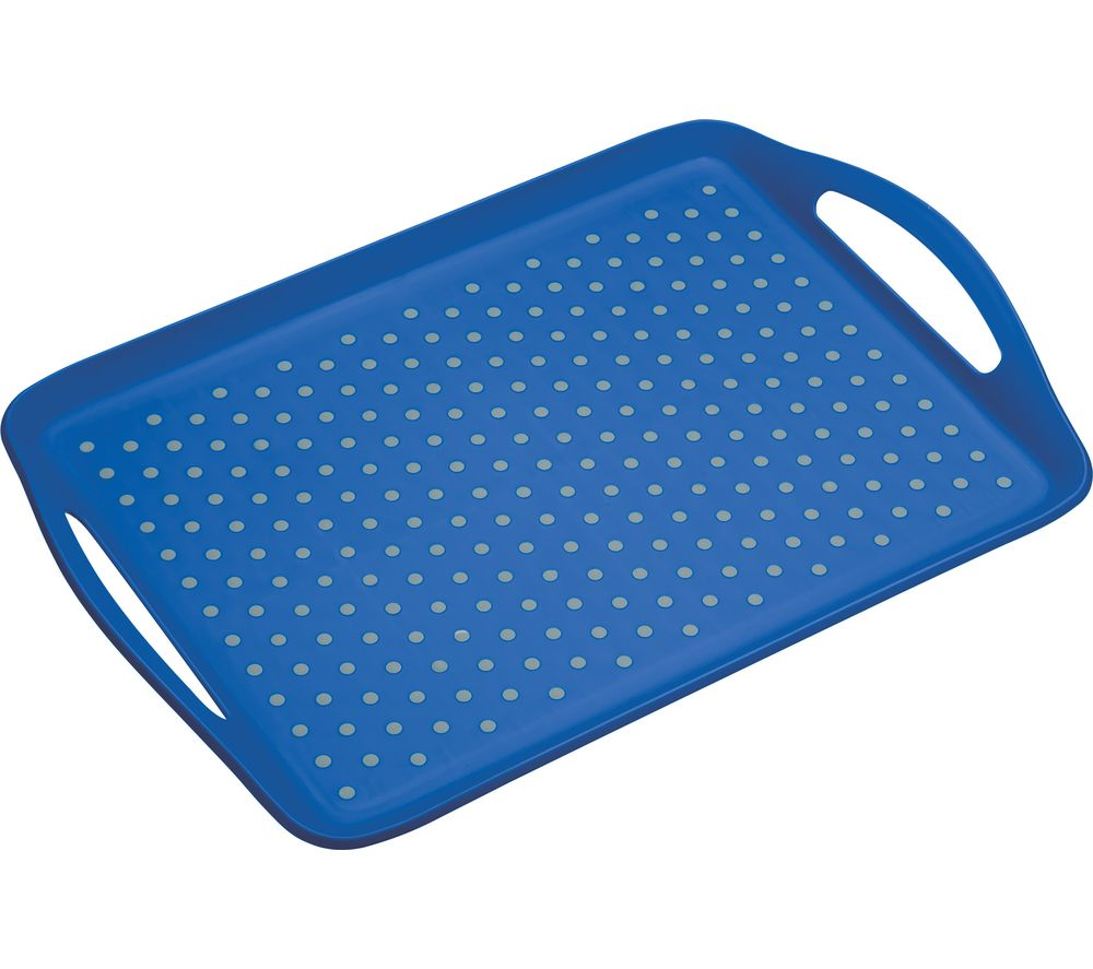 Anti-Slip Serving Tray - Grey & Blue, Grey