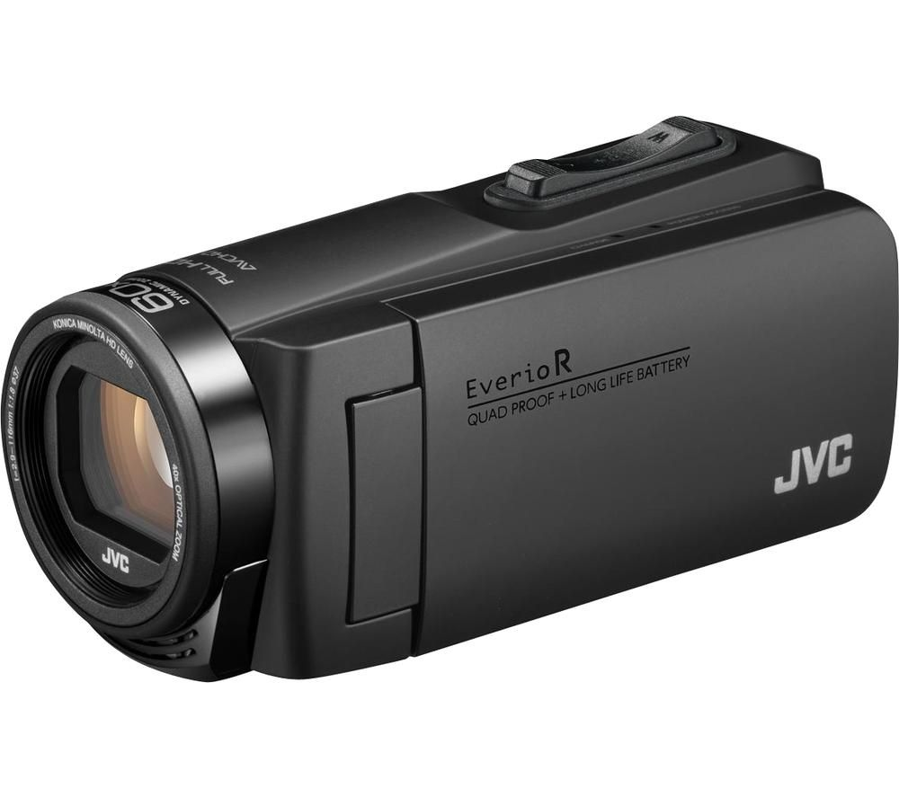 JVC Everio R GZ-R495BEK Camcorder with Case - Black, Black