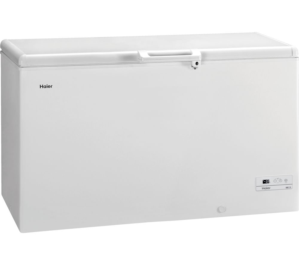 HAIER HCE429F Chest Freezer - White, White