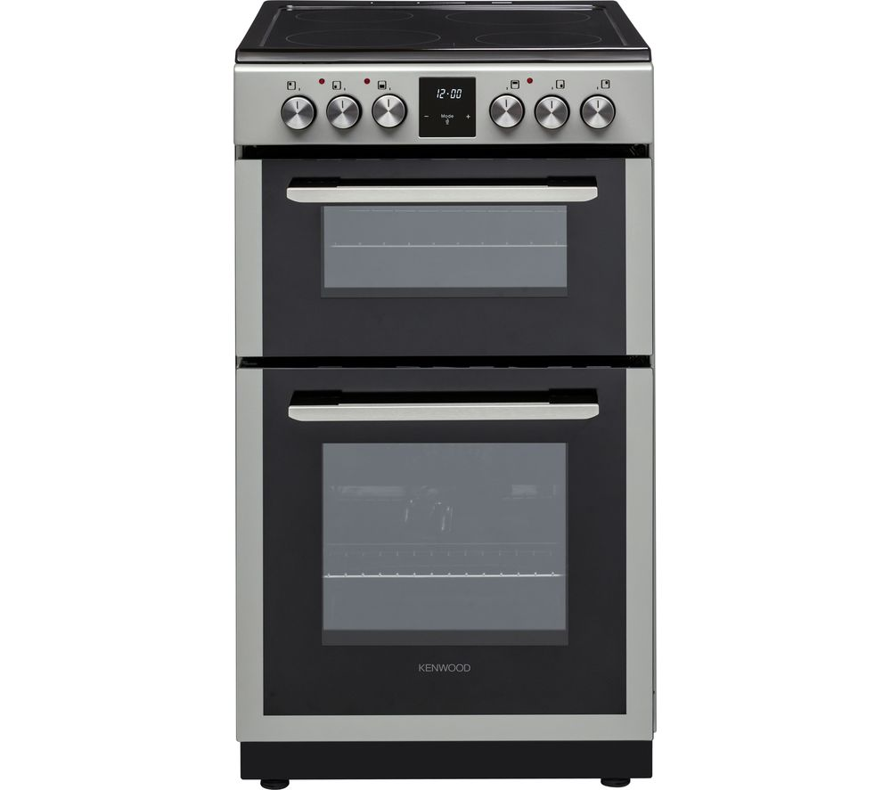 KENWOOD KTC506S19 50 cm Electric Ceramic Cooker - Silver, Silver