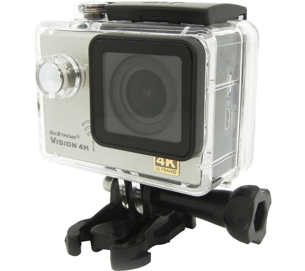 GOXTREME Vision 4K Ultra HD Action Camera - Silver, Silver