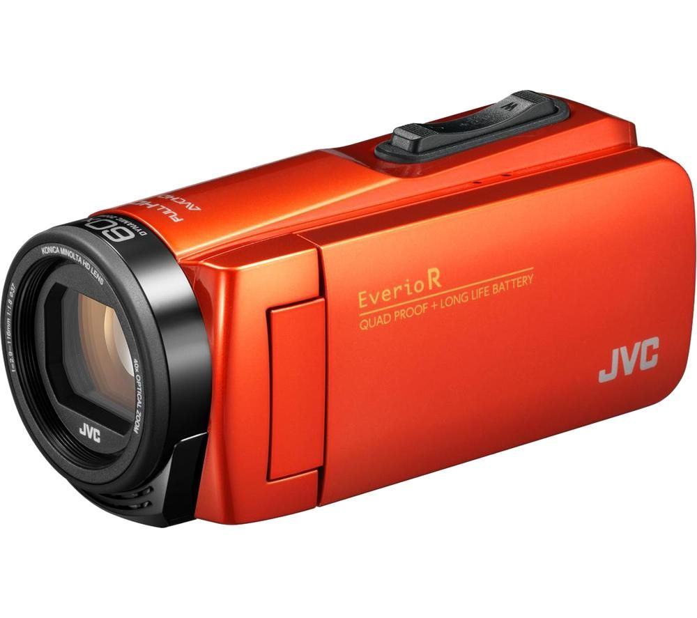 JVC Everio R GZ-R495DEK Camcorder with Case - Orange, Orange