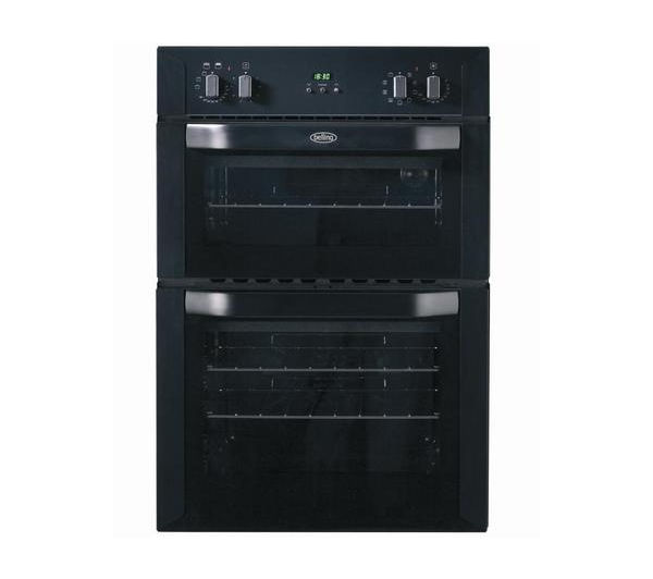 BELLING BI90MF Electric Double Oven - Black, Black
