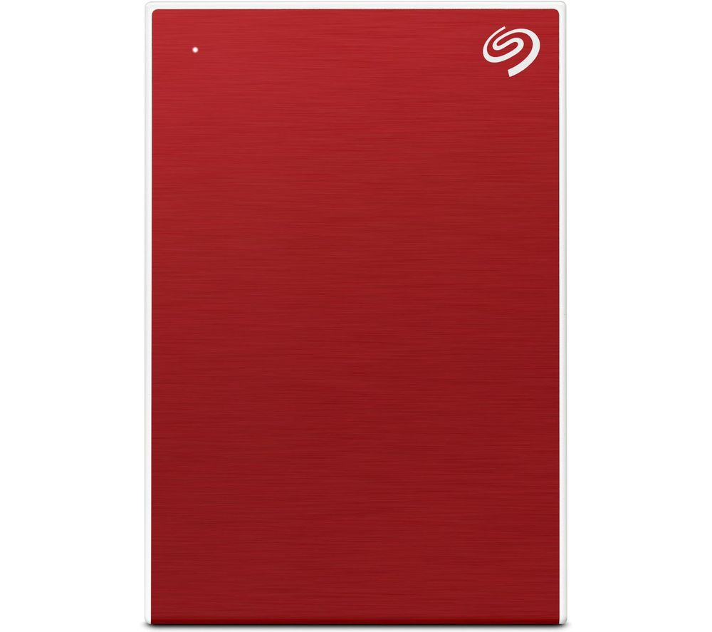 SEAGATE One Touch Portable Hard Drive - 2 TB, Red, Red