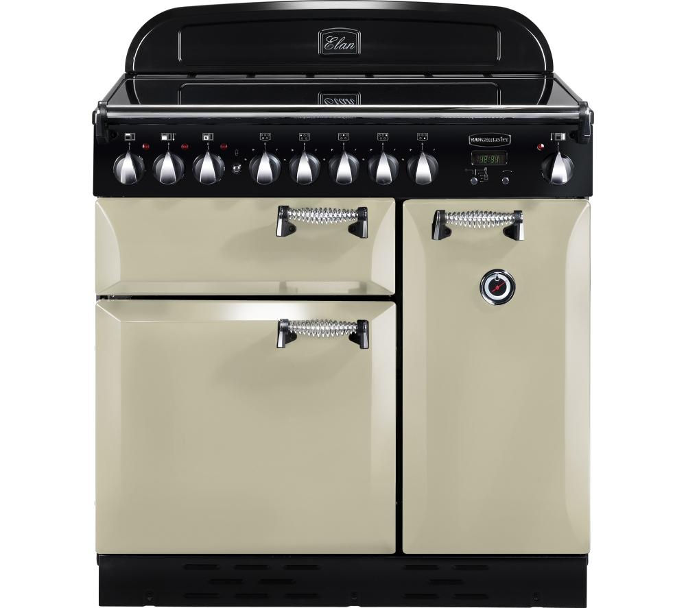 RANGEMASTER Elan 90 Electric Induction Range Cooker - Cream & Chrome, Cream