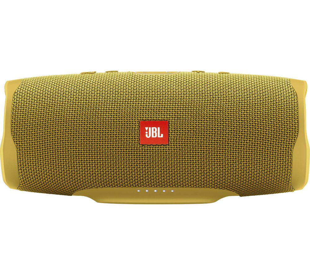 JBL Charge 4 Portable Speaker - Mustard Yellow, Yellow