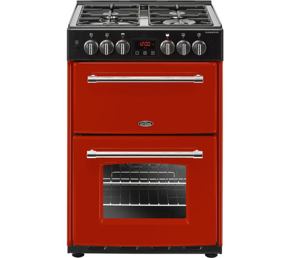 BELLING Farmhouse 60DF Hja Dual Fuel Cooker - Jalapeno Red, Red