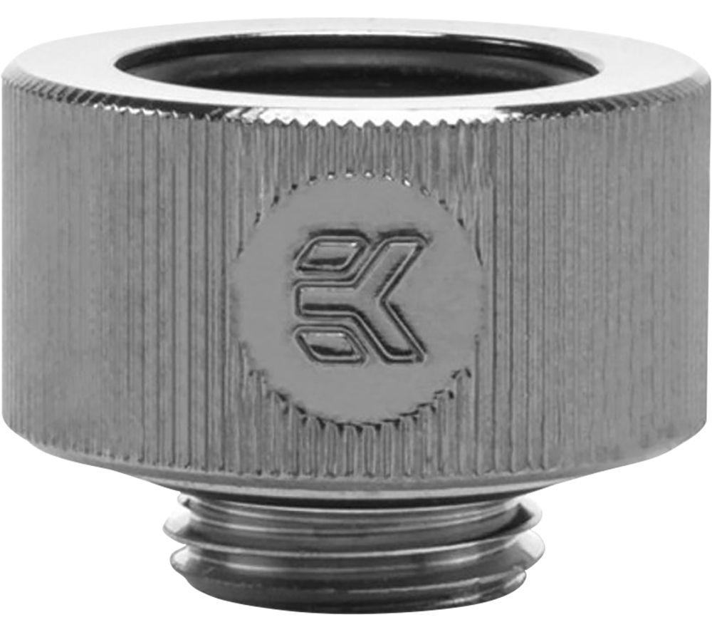 EK COOLING EK-HDC Hard Tube Fitting - 16 mm, Black Nickel, Black