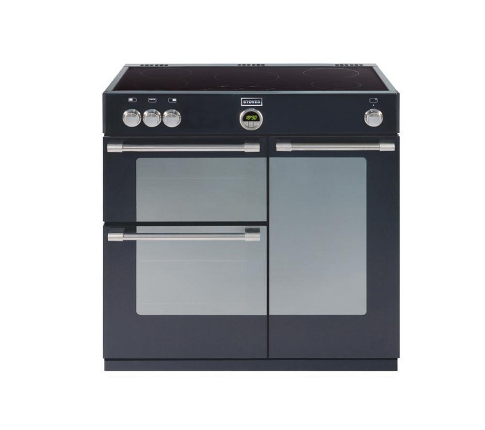 STOVES Sterling 900Ei Electric Induction Range Cooker - Black, Black