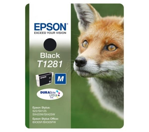 EPSON Fox T1281 Black Ink Cartridge, Black