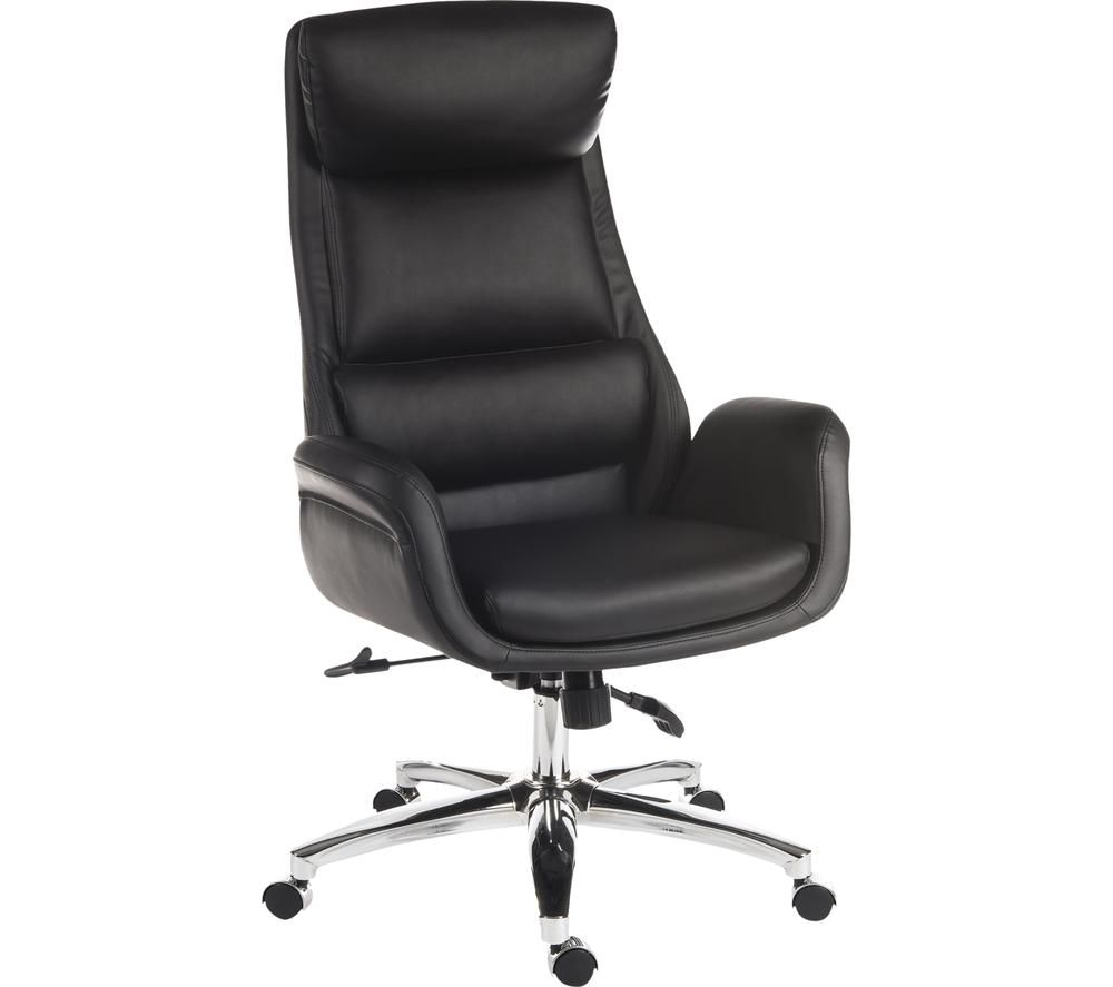 TEKNIK Ambassador Faux-Leather Reclining Executive Chair - Black, Black