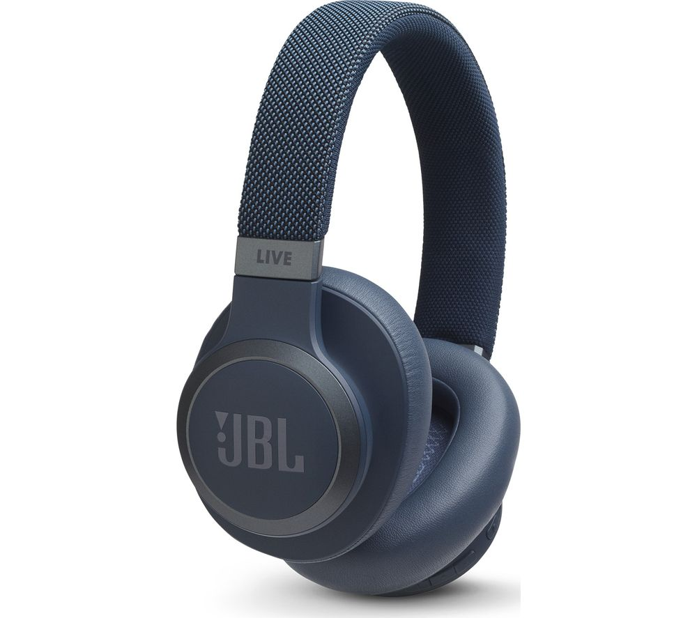 JBL LIVE 650BTNC Wireless Bluetooth Noise-Cancelling Headphones - Blue, Blue