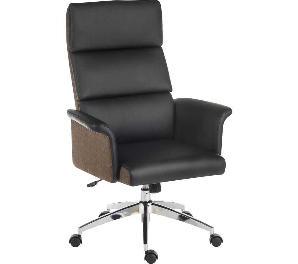 TEKNIK Elegance High Faux-Leather Executive Chair - Black & Brown, Black