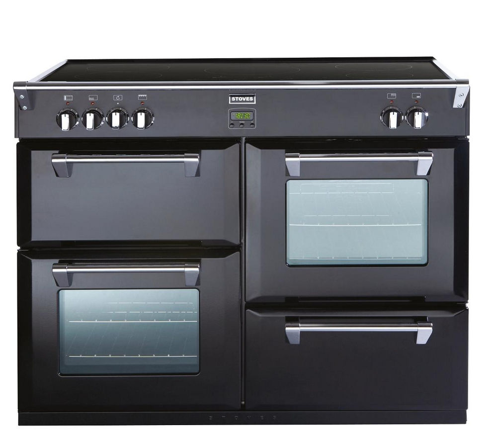 STOVES Richmond 1100Ei Electric Induction Range Cooker - Black, Black