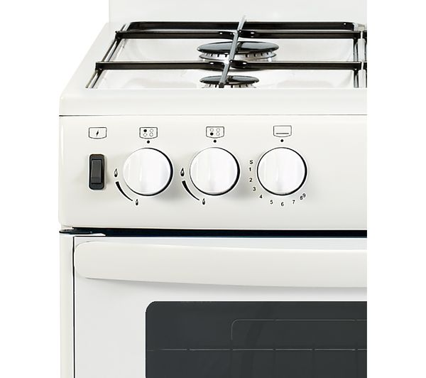 NEW WORLD NW55THLG Gas Cooker - White, White