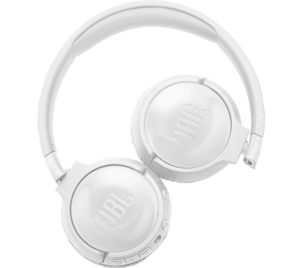 JBL TUNE 600BTNC Wireless Bluetooth Noise-Cancelling Headphones - White, White
