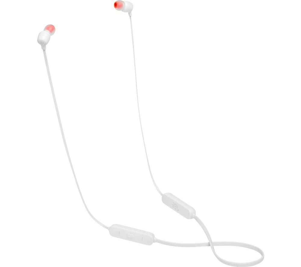 JBL Tune 115BT Wireless Bluetooth Earphones - White, White