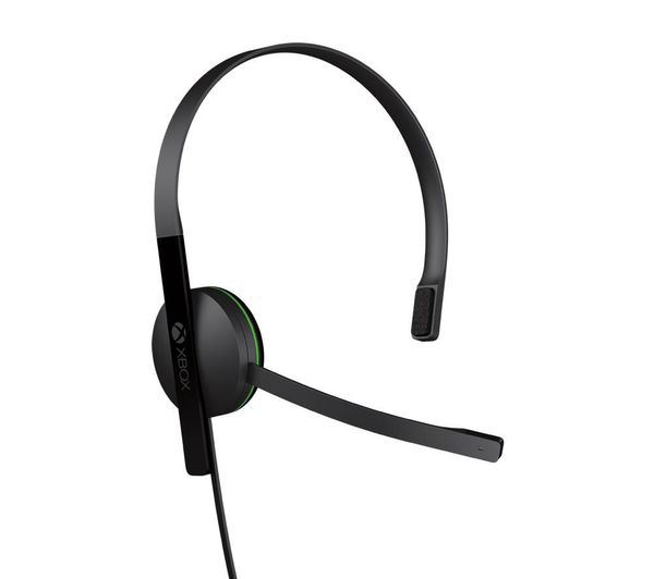 MICROSOFT Xbox One Chat Headset - Black, Black