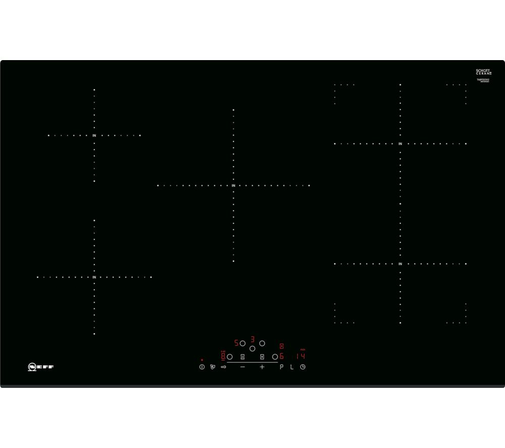 NEFF N70 T48FD23X2 Electric Induction Hob - Black, Black