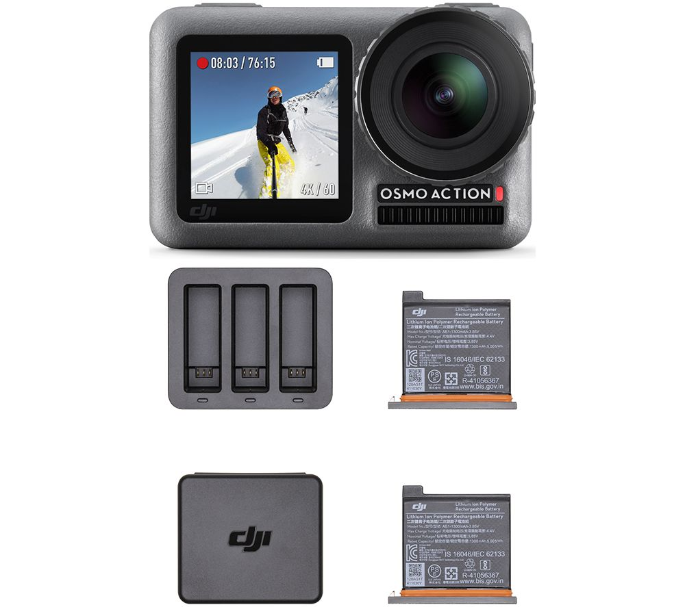 DJI Osmo Action Camera Charging Combo - Grey & Black, Grey