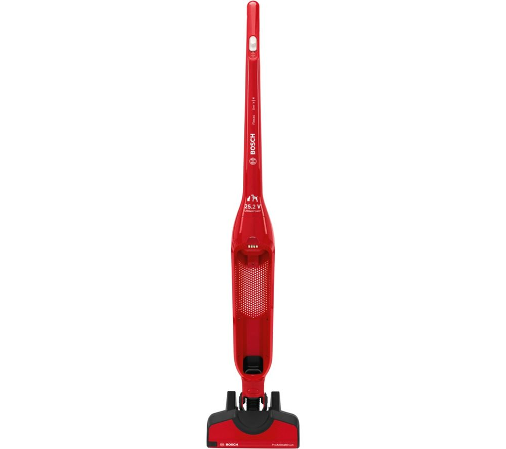 BOSCH Serie 4 Flexxo ProAnimal BBH3PETGB Cordless Vacuum Cleaner - Red, Red