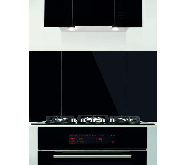 SANDSTROM S90SPGB13 Glass Splashback, Black
