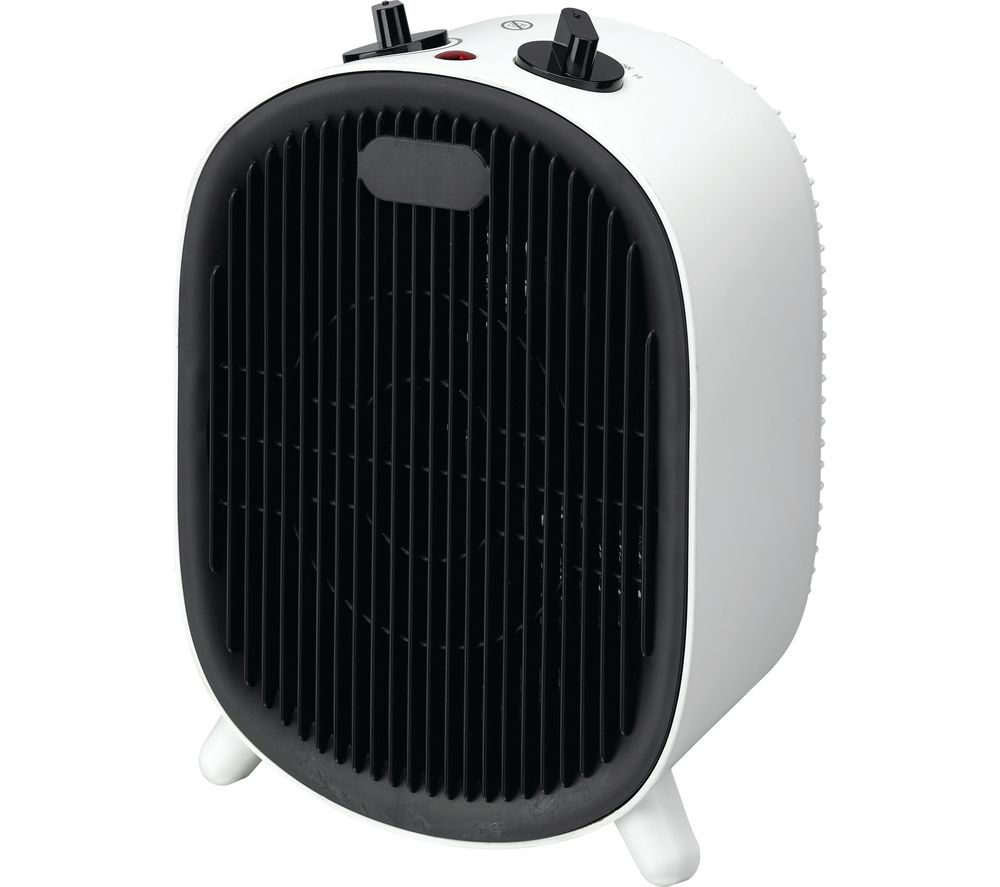 ESSENTIALS C20FHW20 Fan Heater - Black & White, Black