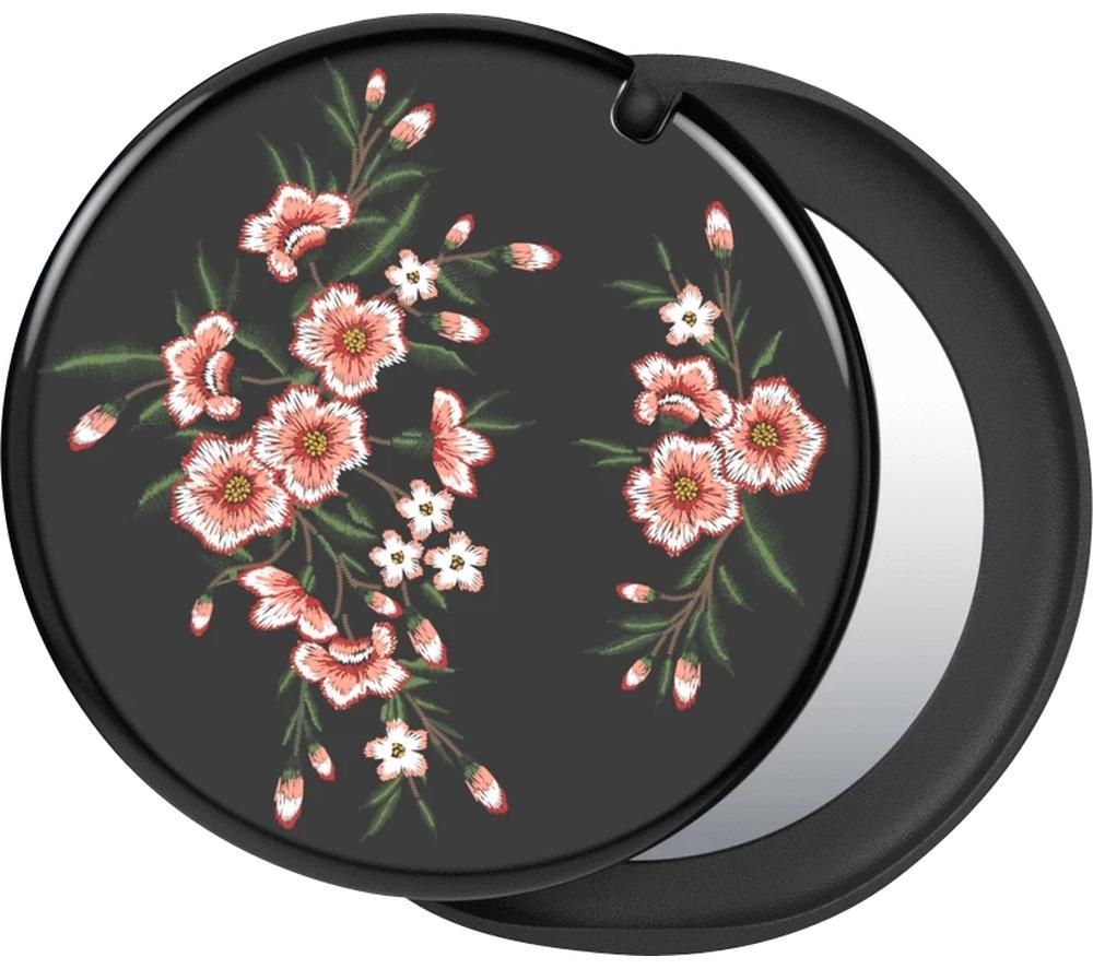 POPSOCKETS Swappable PopMirror Phone Grip - Pink Blossom & Black, Pink