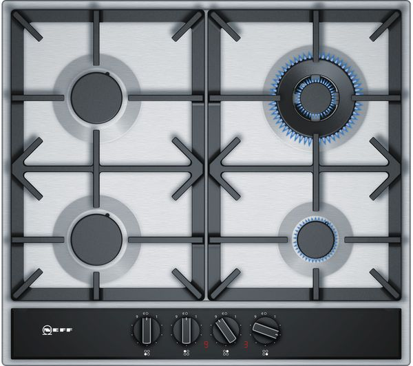 NEFF N70 T26DA59N0 Gas Hob - Stainless Steel, Stainless Steel