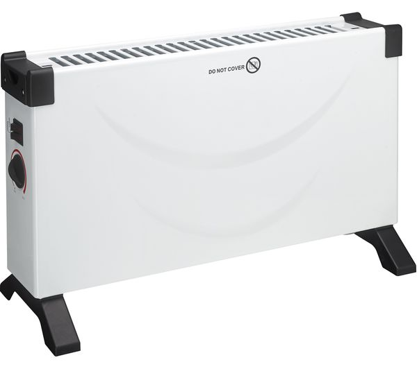ESSENTIALS C20CHW18 Portable Convector Heater - White & Black, White