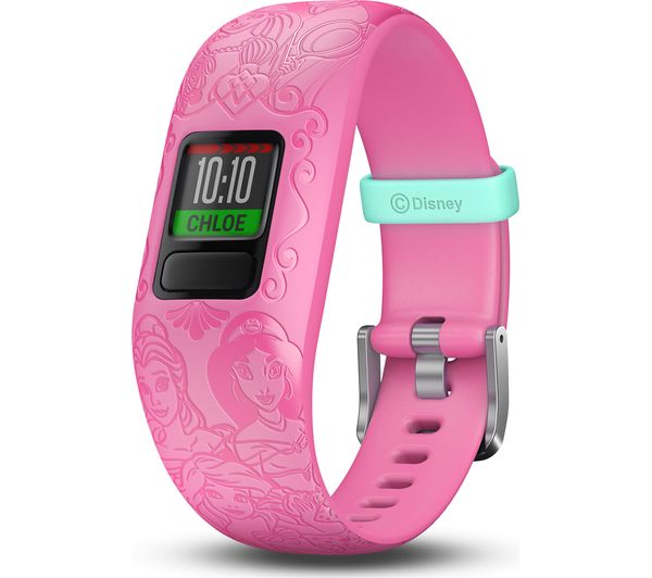 GARMIN vivofit jr 2 Kid's Activity Tracker - Pink Disney Princess, Adjustable Band, Pink