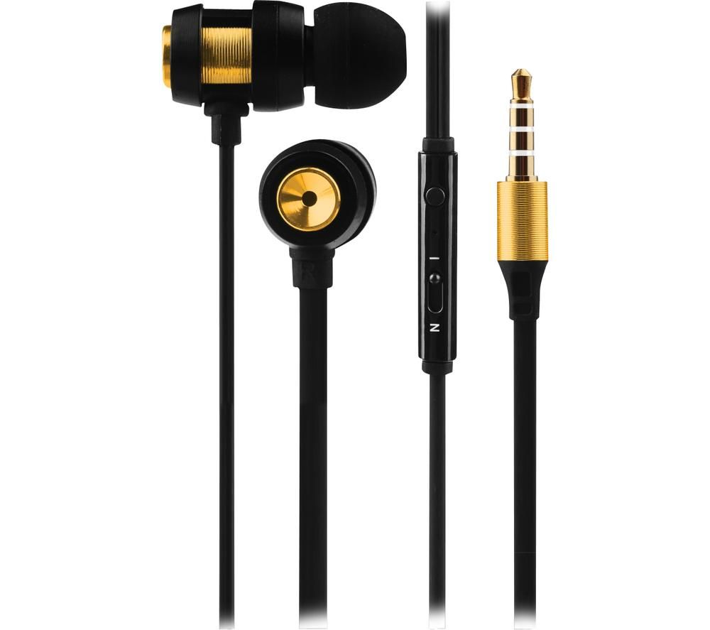 VOLKANO Alloy VK-1007-GD Earphones - Gold & Black, Gold