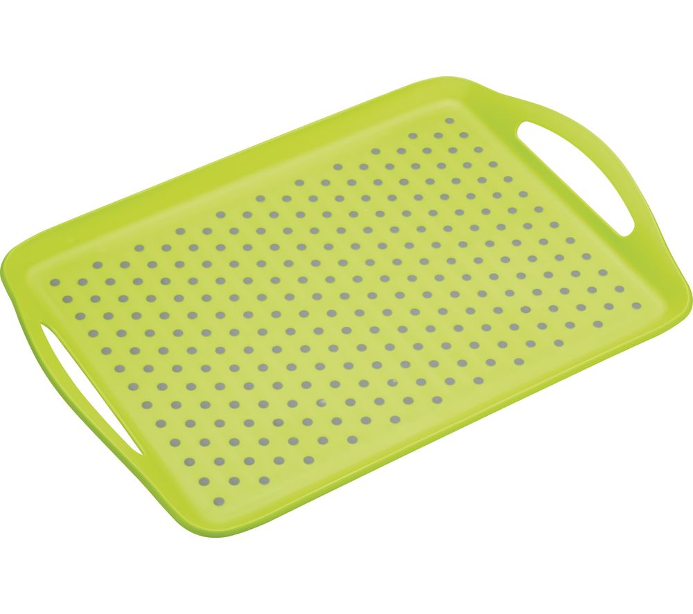 Anti-Slip Serving Tray - Grey & Green, Grey