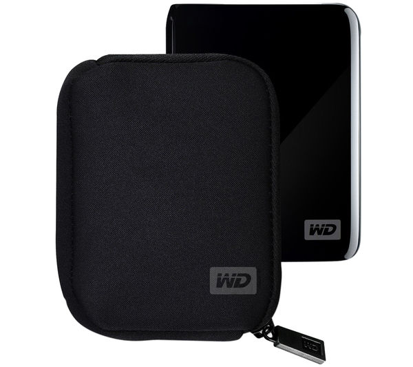 WD My Passport Portable Hard Drive Carry Case - Black, Black