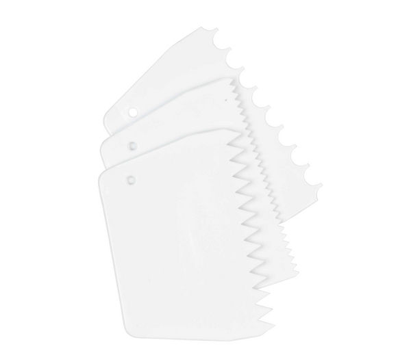 TALA 9740 Patterned Cake Scrapers - Pack of 3