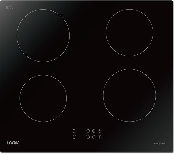 LOGIK LINDHOB16 Electric Induction Hob - Black, Black