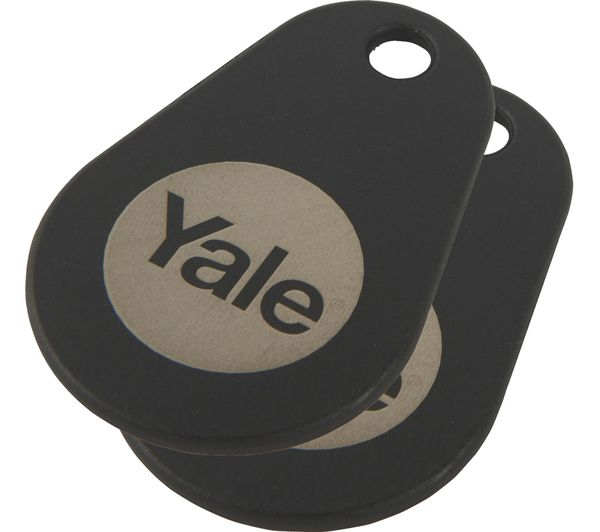 YALE Connected Key Tag - Twin Pack, Black, Black