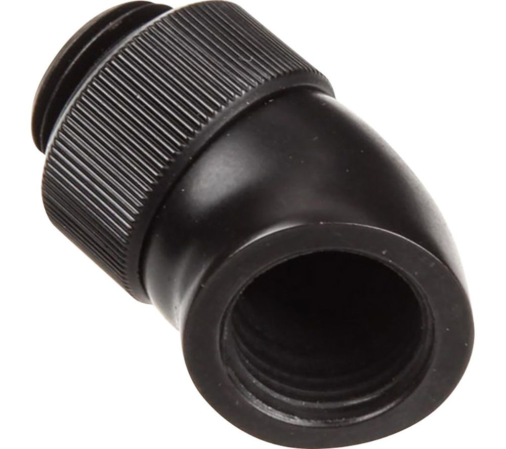 EK COOLING EK-AF Angled 45 Degrees Fitting Adapter - Black, Black