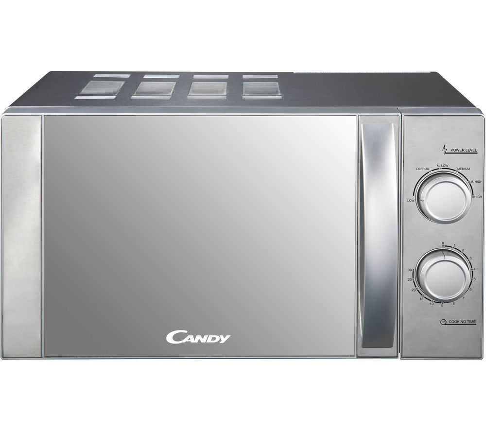 CMW20MSS-UK Compact Solo Microwave - Silver, Silver