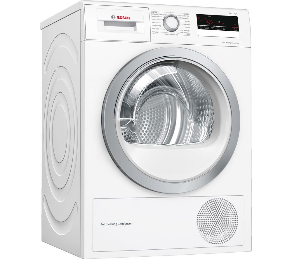 BOSCH Serie 4 WTW85231GB 8 kg Condenser Tumble Dryer - White, White