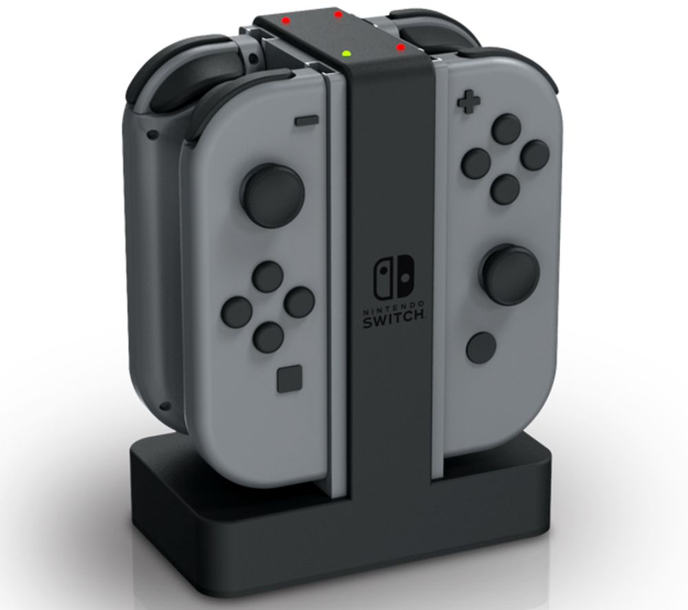 POWERA Nintendo Switch Joy-Con Charging Station - Black & Grey, Black