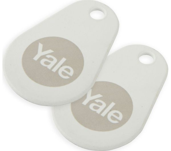 YALE Connected Key Tag - Twin Pack, White, White